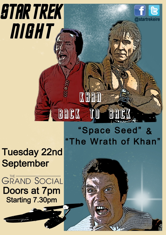 Khan Back-To-Back Dublin Star Trek screening