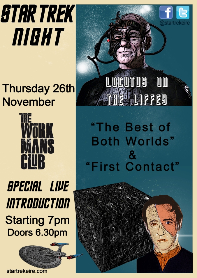 Locutus on the Liffey Dublin Star Trek screening