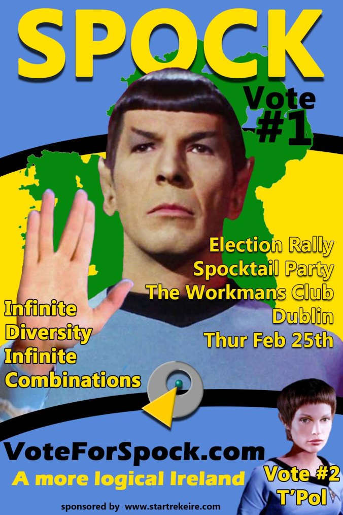 Vote Spock your #1 2016 Irish Elections